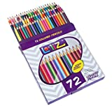 LolliZ 72 Colored Pencils Set, with 72 Unique Color Choices! (Office Product)