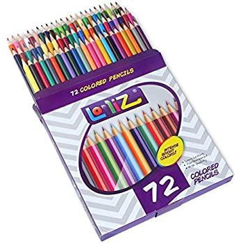 LolliZ 72 Colored Pencils Set, with 72 Unique Color Choices!