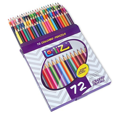 LolliZ® 72 Colored Pencils Set, with 72 Unique