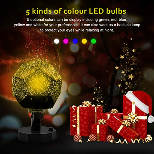 Sunnec DIY Science Sky Projection Night Light Projector Lamp, Phantom Star Projector Night Lamp with 12 Romantic Constellation for Birthday, Party, Children's Day, Christmas, Anniversary