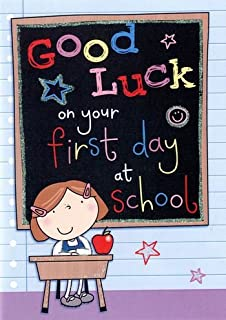 Good luck first day at school quality greeting card jj023 good luck first day at school quality greeting card jj024 m4hsunfo