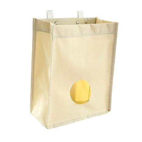 SwirlColor ultramarinos de la lona del bolso del sostenedor y dispensador de bolsas de basura Organizador