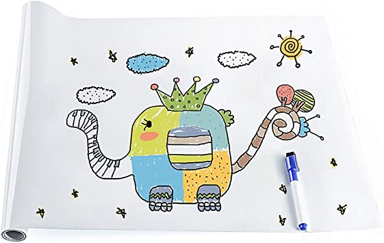 Child/'s DRY ERASE BOARD wall sticker DINOSAURS decal draw write color dino wipe