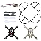 Holy Stone F180W RC Drone Quadcopter Spare Parts Crash Pack (1 Spare Blades Sets+ 1 Propeller Guard+ 2 Replacement Motors+ 1 body shell set)