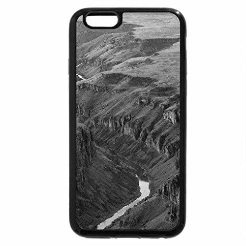 iPhone 6S Plus Case, iPhone 6 Plus Case (Black & White) - Owyhee River, Idaho
