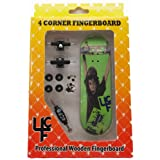 """4CFB Complete Wooden Fingerboard with Real Wear """"JP Garcia"""" Graphic"""