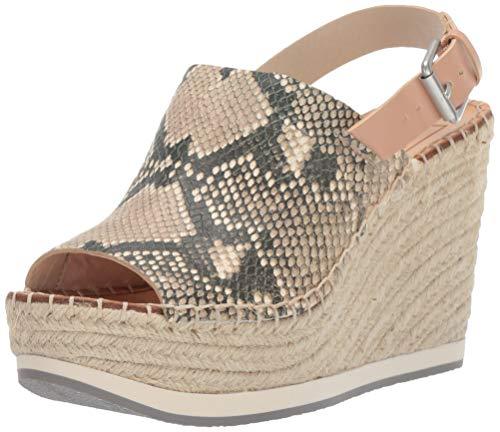 Embossed Wedge Sandals - Dolce Vita Women's SHAN Wedge Sandal Snake Print Embossed Leather 10 M US