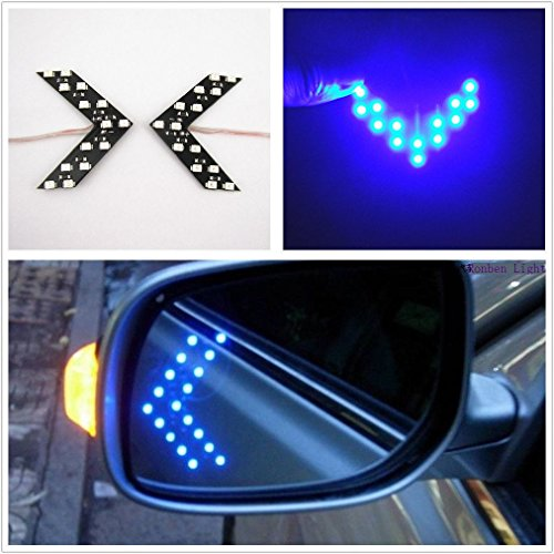 Side Mirror Led Turn Signal Arrow Lights in US - 9