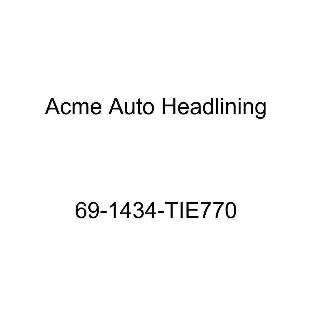 6 Bow Acme Auto Headlining 69-1434-TIE770 Black Replacement Headliner 1969 Chevrolet Nova 4 Door Sedan