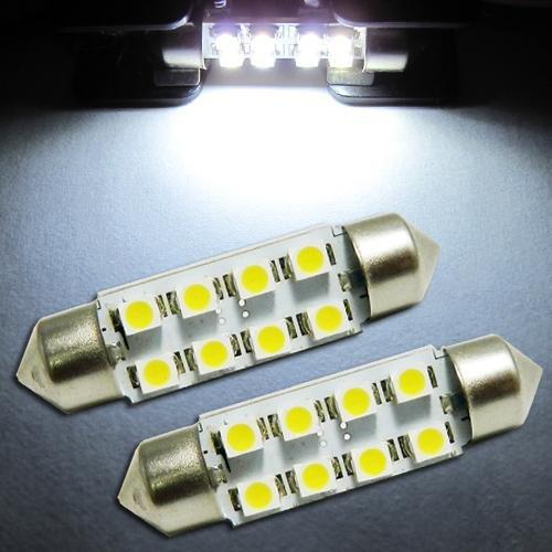 Orion Technology White DE4410 6476 6451 211-2 8-SMD 39-41mm Festoon LED Bulbs for Car License plate,Interior,Door Lights