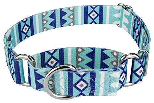 Country Brook Petz - Snowy Pines Martingale Dog Collar - Christmas Collection with 13 Designs (Medium)