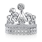 Platinum-Plated Sterling Silver Ring CZ Diamond