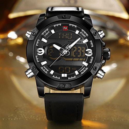 Zeiger-New-Mens-Analog-Digital-Sport-Military-Watch-LED-Dual-Time-Display-Casual-Black-Stainless-Steel-Leather-Watches-for-Men