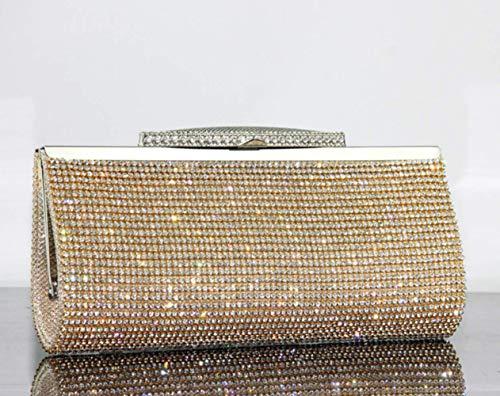 Bags Evening For Wallet Clutch Ladies Handbag Gift Wedding Bag Sparkly Wa Purse Bridal Birthday Glitter Bag Da Champagne Satin Clutches Party Women's ESFaXqwnwB