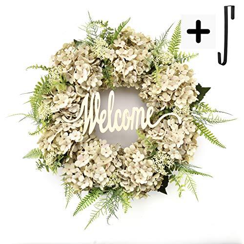 Wreaths for Front Door Handmade Hydrangea Wreath,letter wreaths for front door,Fall Wreath,farmhouse door wreaths,Grapevine Wreath,spring summer wreaths for front door,Everyday Wreath (18 inches)