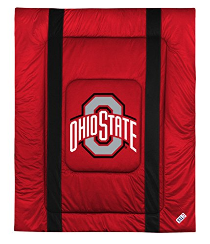 Ohio State Buckeyes 7 PIECE FULL BEDDING SET, BED IN A BAG (COMFORTER, FLAT SHEET, FITTED SHEET, 2 - PILLOW CASES, 2 - PILLOW SHAMS