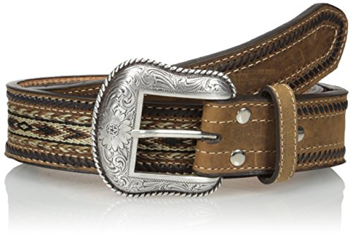 Nocona Brown Belt (Nocona Men's Brown Ribon Lace, Medium Brown,)