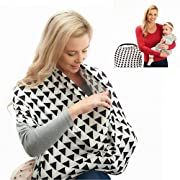 Nourishify Nursing Breastfeeding Privacy Cover Scarf Multi Use Accessory for Baby Car Seat Canopy, Stroller, Shopping Cart, Travel Bassinets for Newborn - Ideal Maternity or