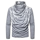 ZYFGfree European Size Fashion Spray Painting Heap Collar Long Sleeve Knitting Sweater (Light Grey, S)