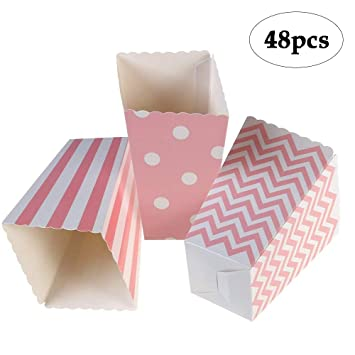 Amazon.com: binaryabc Papel cajas de palomitas de maíz Candy ...