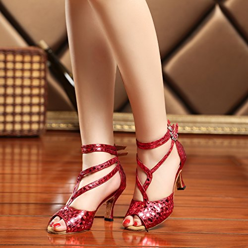 de Red Minitoo 5cm Heel 7 femme Salle bal ZAAFx61