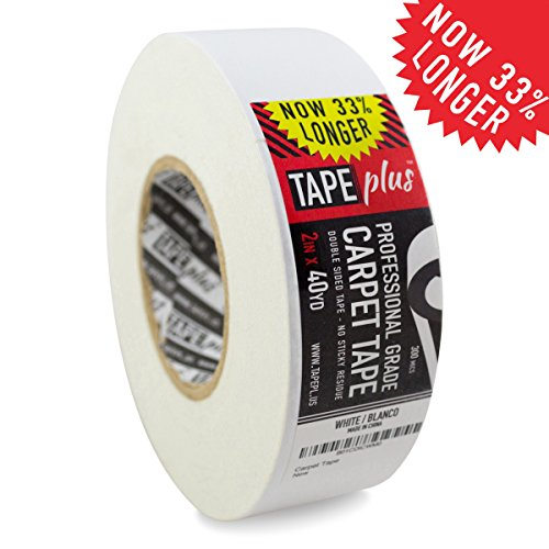 Professional Rug Tape - 2 Inch by 40 Yards (120 Feet! - 2X More!) - Double Sided Non-Slip Carpet Tape - Premium...