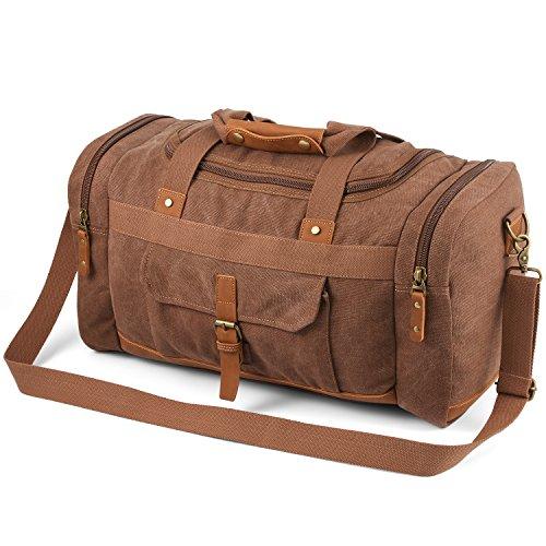 Plambag 50L Canvas Luggage Duffel Bag Travel Tote Shoulder Bag