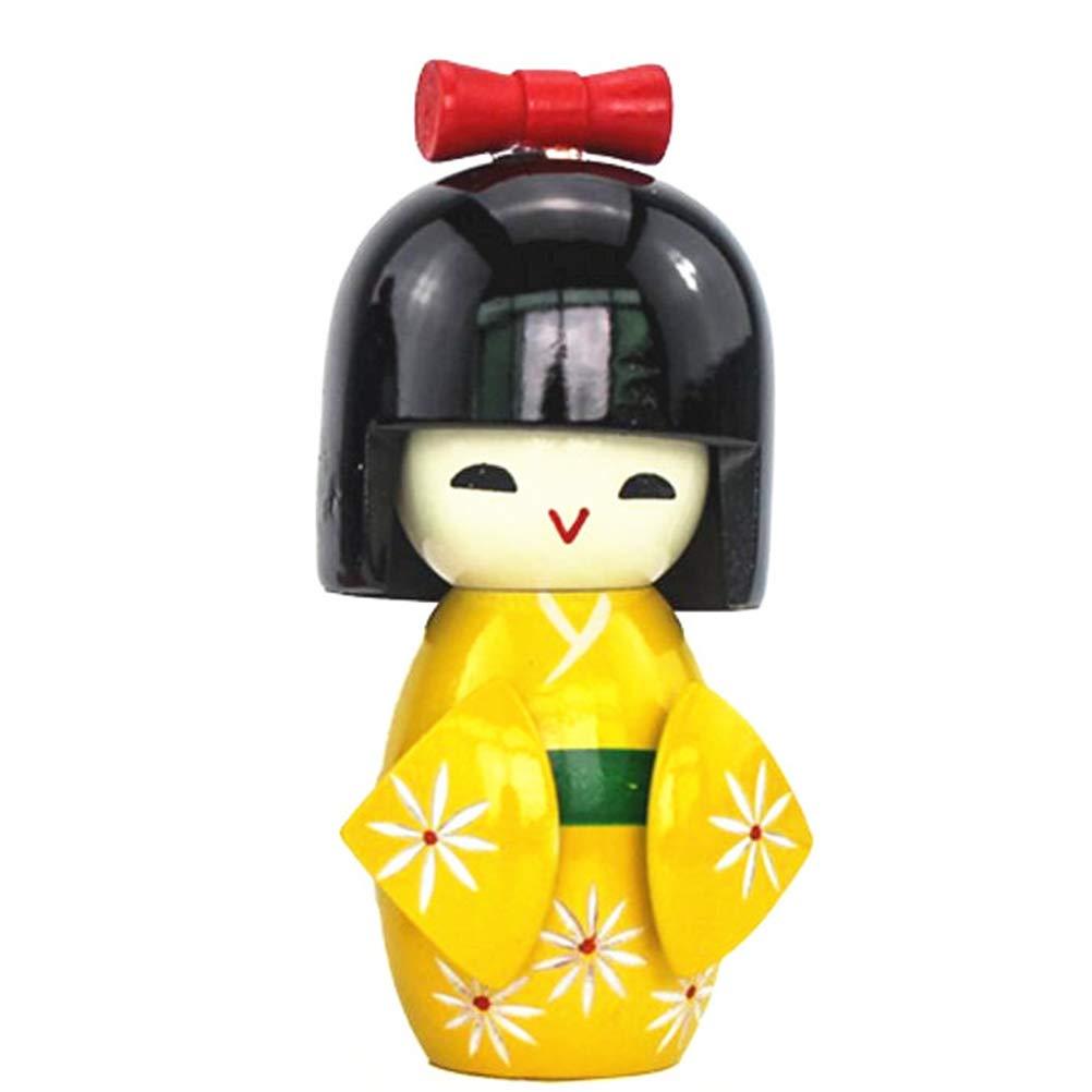 TOYANDONA Figurina da Collezione per la casa figurina da Collezione di Bambole in Kimono Giapponese-Colore Casuale
