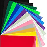"MAREA Premium Heat Transfer Vinyl HTV Bundle 12""x10""- 14 Pack of Assorted Colors and Glow in the Dark Iron On T-Shirt Vinyl Transfer Sheets - Best HTV Vinyl for Silhouette Cameo, Cricut, Heat Press"