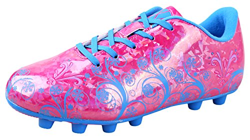 Vizari Youth/Jr Frost FG Soccer Cleats | Soccer Cleats Girls | Kids Soccer Cleats | Outoor Soccer Shoes | Pink/Blue - Girls Cleats Pink Soccer