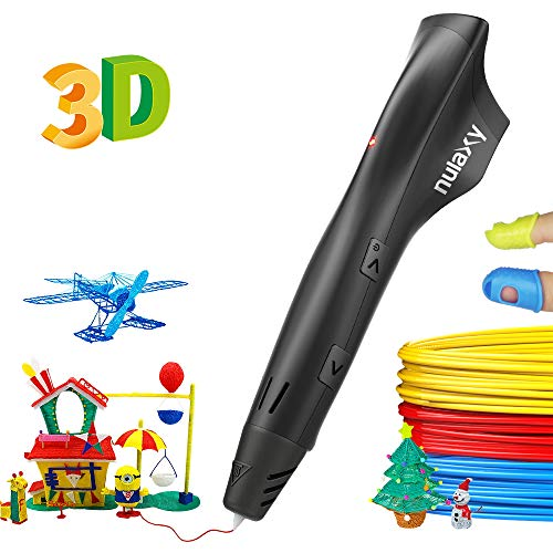 Nulaxy 3D Pen, 2019 Newest 3D Drawing Printing Pen with PLA Filament Refills, Speed Control, Temperature Control, Non-Clogging, Best Gift for Kids Adults Arts Crafts Model DIY, Easy to Use (Best Abs 3d Printer 2019)