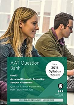 Book AAT Advanced Diploma in Accounting Level 3 Synoptic Assessment: Question Bank