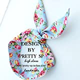 vintage floral imports - Star with ears headband Korean imports of vintage floral fabric rabbit hair band Korean version of the hoop jewelry female 935 for women girl lady