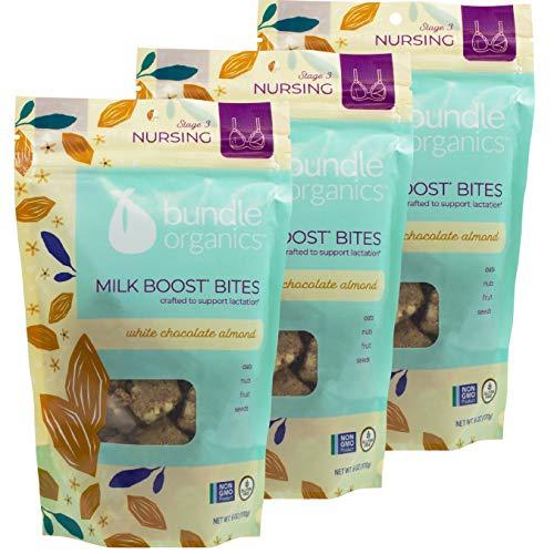 Bundle Organics Bites, Stage 3 Nursing, White Chocolate Almond, 6 oz (Pack of 3)