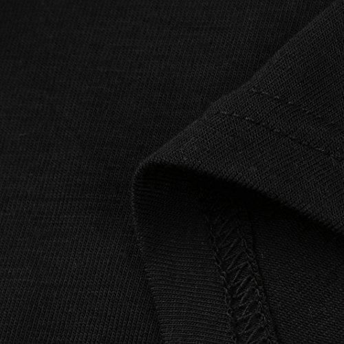 QinMM Tops Grand Off Fleur Chic Broderie des L Manches Pas Haut Classique V Col Blouse Slim Cher sans Dbardeurs lgante T Taille paule Retour Shirt Femmes Chemisier Ajour XXXXXL t Noir Gilet aYnRwq1w7
