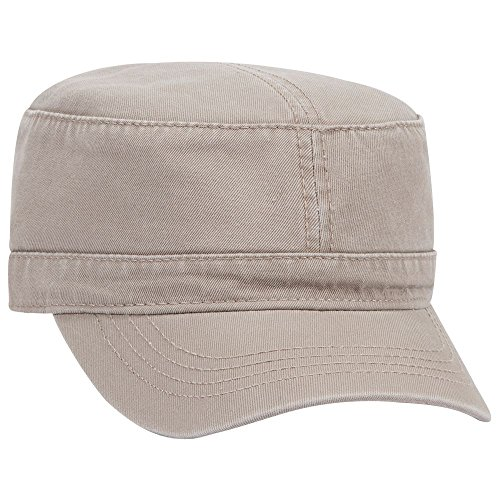 OTTO Superior Garment Washed Cotton Twill Military Cap - Dk. Khaki