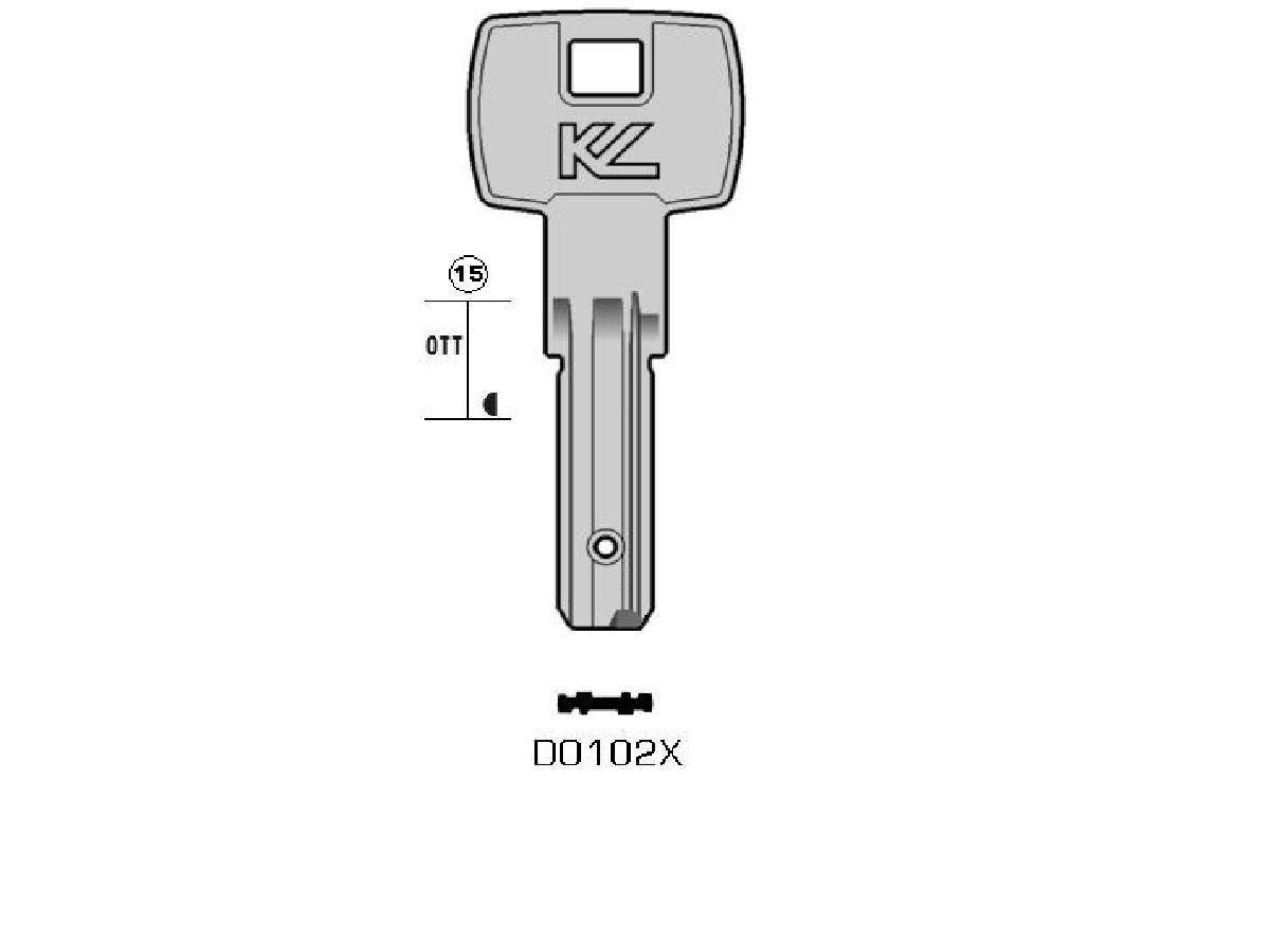 DOM DO102X KEYLINE/Key Blanks/Schlüsselrohlinge