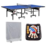 Harvil I, Indoor Table Tennis Table with Playback Feature and Free Accessories
