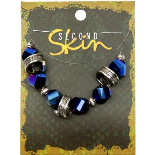 UPC 016321094055, Second Skin Glass/Metal Bead Mix 13/Pkg-4-11mm Faceted/Snakeskin - Metal/Blue
