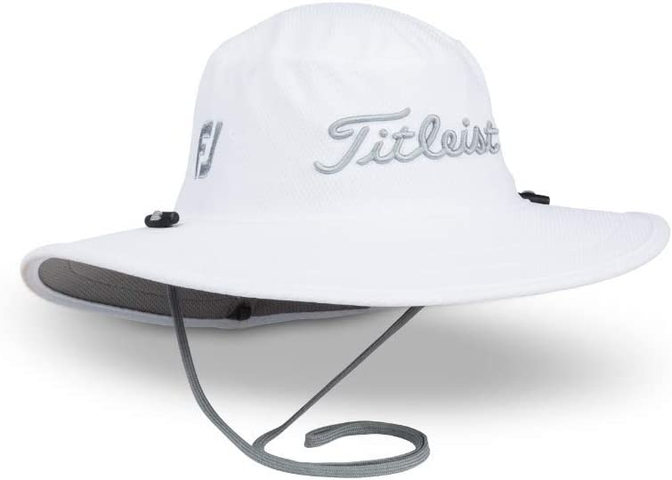 One Size Fits All White//Grey Titleist Mens Standard Tour Aussie Cap
