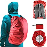 Frelaxy Waterproof Backpack Rain Cover (15-90L), Upgraded Vertical Buckle Strap & Silver Coated, Rainproof Storage Pouch Included, Perfect for Hiking, Camping, Traveling, Cycling, Outdoor Activities