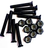 1 Set of 8 Black Longboard Skateboard 1.25' Hardware Screws Set