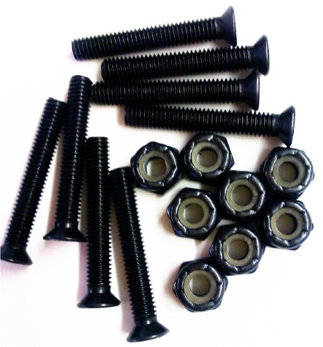 1-set-of-8-black-longboard-skateboard-125-hardware-screws-set