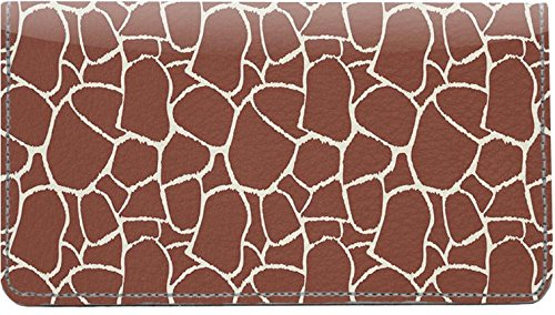 (Giraffe Print Leather Checkbook Cover )