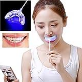 Promisen Professional Dental Whitening Kit Blue Teeth Whitening Light USB Charging 2PCS Whitening Gel
