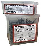5' 1018-1022 Steel Drywall Screws with Bugle Head Type; PK750