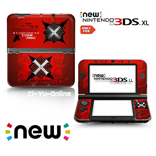 Ci Yu Online Vinyl Skin  New 3Ds Xl    Monster Hunter X  2 Red   Limited Edition Sticker Decal Cover For New Nintendo 3Ds Xl   Ll Console System