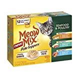 Meow Mix Wet Cat Food, 2.75-Ounce Cups, Pack of 12 (Pate Toppers Seafood & Poultry)