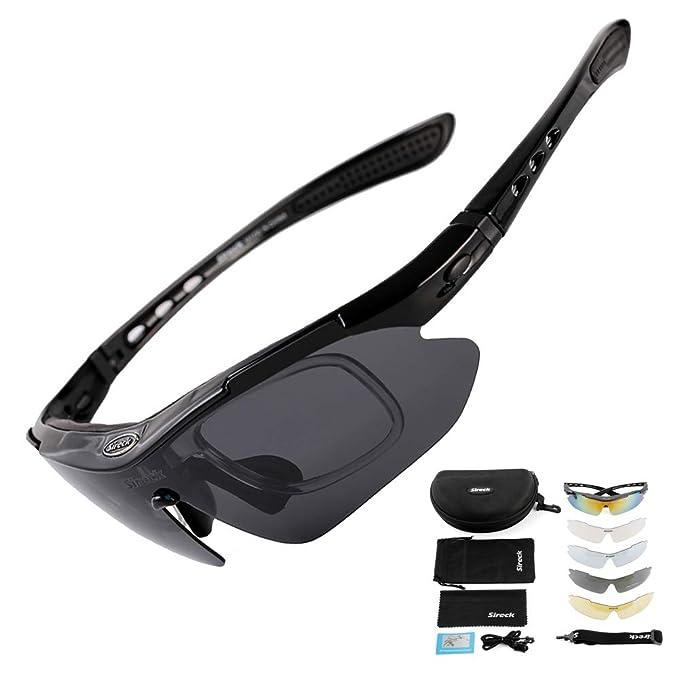 bcbaa1584650 Sireck Sports Sunglasses - Polarized Sunglasses - Outdoor Golf Hiking  Fishing Cycling Sunglasses Bike Bicycle Glasses