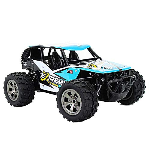 RC Car, 1:20 Scale 2WD High Speed Remote Control Car, 2.4Ghz Off Road RC Trucks, Electric Toy Car for All Adults & Kids (Blue)